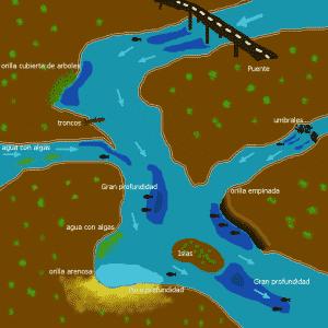 Lucioperca en rio